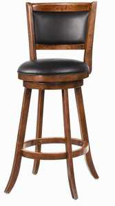 Coaster 101920 29 in Swivel Bar Stool With Upholstered Seat