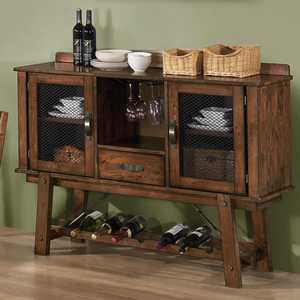 Coaster 103995 Lawson Dining Server W/Wine Rack