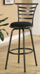 Coaster 122010 29 in Metal Bar Stool With Upholstered Seat