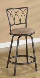 Coaster 122019 Barstool 24 in Metal Black