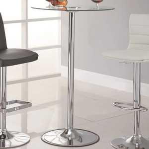 Coaster 122400 Transitioning Led Bar Table With Chrome Base