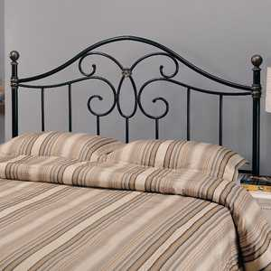 Coaster 300182QF Queen Black Metal Headboard