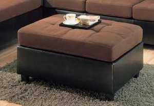 Coaster 500656 Harlow Chocolate Microfiber Ottoman