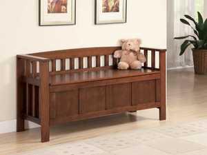 Coaster 501008 Walnut Wood Storage Bench