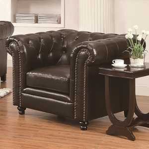 Coaster 504553 Roy Dark Brown Traditional Chair