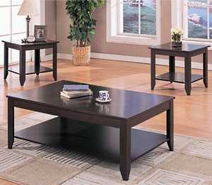 Coaster 700285 3-Piece Cappuccino Contemporary Occasional Table Set