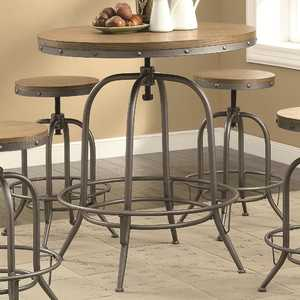 Coaster 122097 Transitional Adjustable Bar Table