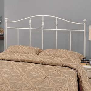 Coaster 300183T Twin White Cottage Metal Headboard
