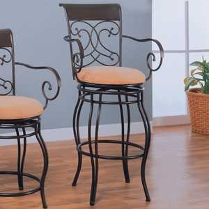 Coaster 120019 29 in Metal Bar Stool With Upholstered Seat
