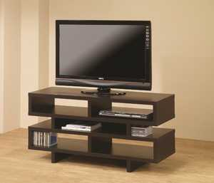 Coaster 700720 Cappuccino Open Storage Tv Console