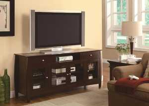 Coaster 700693 Connect-It Dark Walnut Tv Console