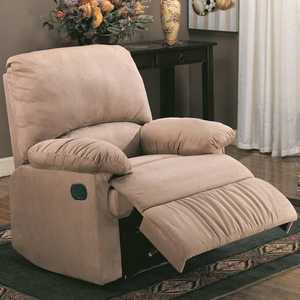 Coaster 600264 Casual Light Brown Microfiber Recliner