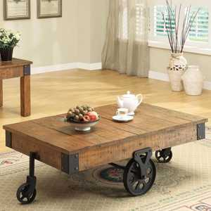 Coaster 701458 Brown Distressed Country Wagon Coffee Table