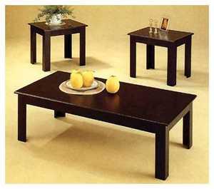 Coaster 5169 3 Piece Parquet Occasional Table Set