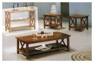 Coaster 5907 Briarcliff Casual 3-Piece Brown Occasional Table Set