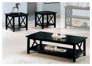 Coaster 5909 3-Piece Briarcliff Deep Merlot Occasional Table Set