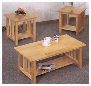 Coaster 4218 Table 3pc Craftsman