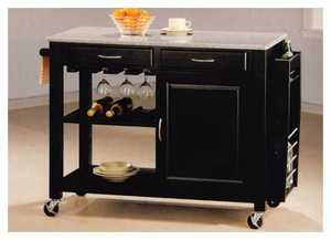 Coaster 5870 Kitchen Cart With Granite Top