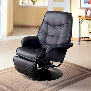 Coaster 7501 Berri Black Swivel Recliner