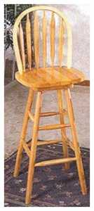 Coaster 4331 Arrow Back Swivel Bar Stool 24 in Oak