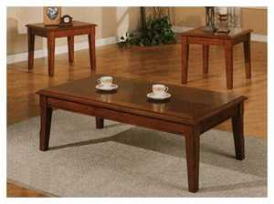 Coaster 700005 3-Piece Cherry Occasional Tables