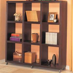 Coaster 800083 Contemporary Cube Bookcase With Casters