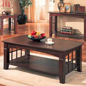 Coaster 700008 Cherry Antique Country Style Coffee Table
