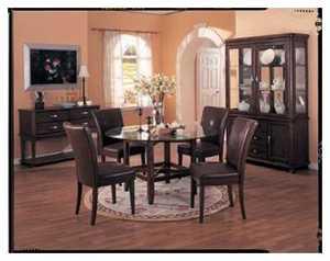 Coaster 4077BRN Soho Parsons Side Chair 38 in H X 19 in W X 23.5 in D