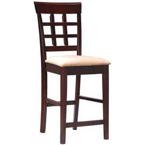 Coaster 100209 Wheat Back Bar Stool With Fabric Seat