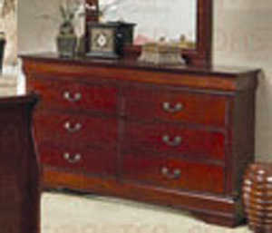Coaster 200433 Louis Philippe Cherry 6 Drawer Dresser