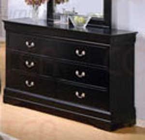 Coaster 201073 Louis Philippe Black 6 Drawer Dresser