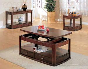 Coaster 700248 Evans Cherry Contemporary Rectangular Lift Top Cocktail Table