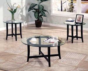 Coaster 700105 3-Piece Dark Cappucino Coffee Table Set