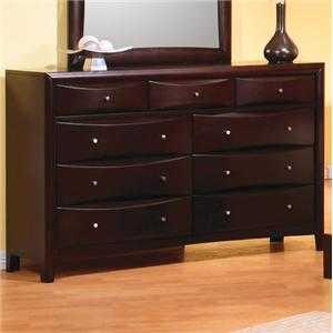 Coaster 200413 Phoenix Contemporary 9 Drawer Dresser
