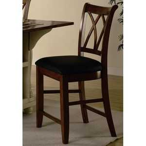 Coaster 102272 24 in Wood Bar Stool With Upholstered Seat
