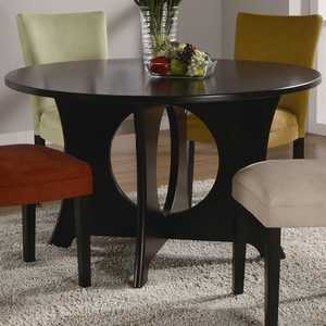 Coaster 101661 Castana Round Dining Table With Crossing Pedestal Base