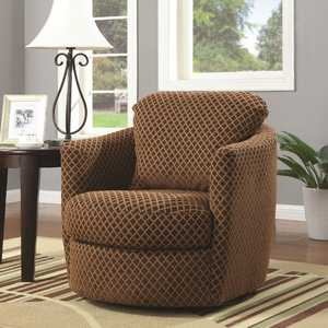 Coaster 900405 Brown Accent Swivel Upholstered Chair
