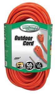 Coleman Cable 02308-88-03 Extension Cord 16/3 Sjtw 50 ft Orange