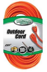 Coleman Cable 02309-88-03 Extension Cord 16/3 Sjtw 100 ft Orange