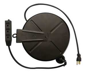 Coleman Cable 04633-89-08 16/3 Extension Cord Wheel W/Banana Tap 30 ft