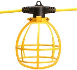 Coleman Cable 07145-88-02 100-Foot Yellow Plastic Temporary String Light