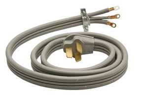 Coleman Cable 09016-88-09 6-Foot 30-Amp Gray Flat Three Conductor Range Cord