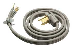 Coleman Cable 09126-88-09 6-Foot 30-Amp Gray Flat Three Conductor Dryer Cord