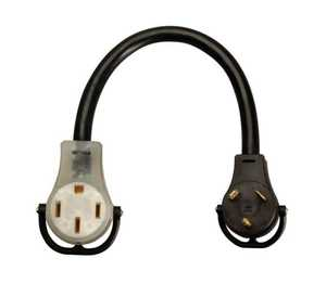 Coleman Cable 09552 Adapter Cord 10/3 50a 18 in