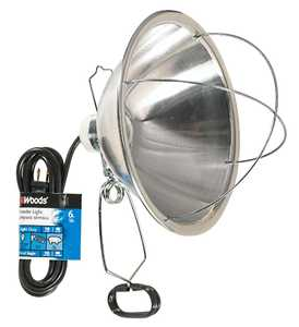 Woods 0166 10-1/2-Inch Aluminum Reflector Brooder Clamp Lamp With 6-Foot Cord