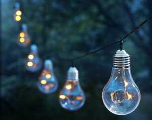 Moonrays 91107 15-Foot Plastic Vintage Bulb String Lights