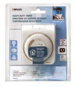 Woods 50001 Mechanical Timer 24hr 3c Indoor