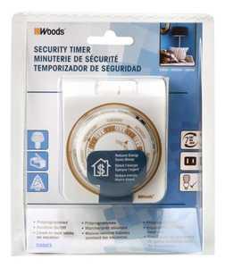 Woods 50003 Timer Random Mechanical 2c 7day Indoor