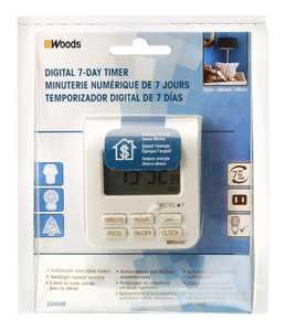 Woods 50008 Timer Digital Weekly Indoor 2c