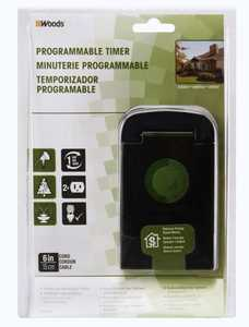 Woods 50011WD 15-Amp 24-Hour Outdoor Mechanical Timer